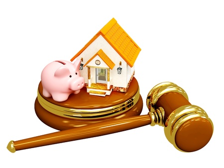 arbitrate: Conceptual image - division of property at divorce