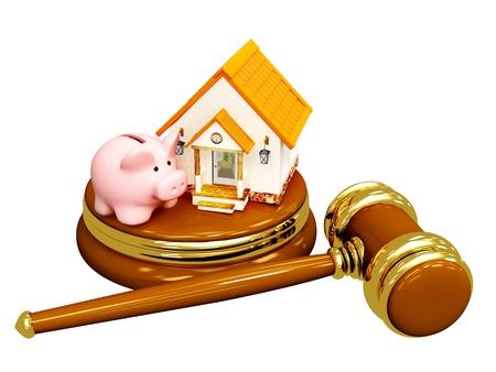 Conceptuele afbeelding - verdeling van de eigendom bij echtscheiding