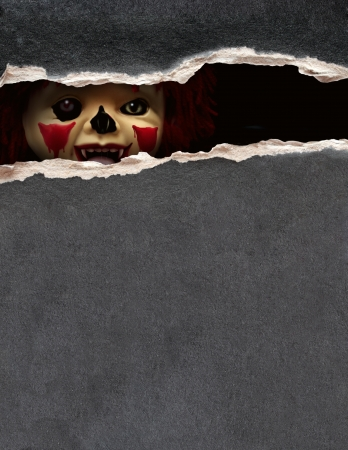 Dark series - a look from darkness. Spooky clown photo