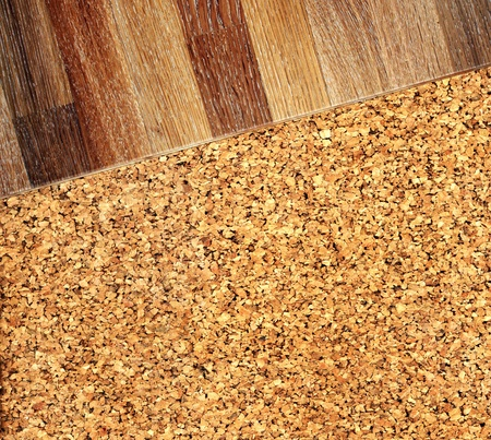 New oak parquet cork flooring texture photo
