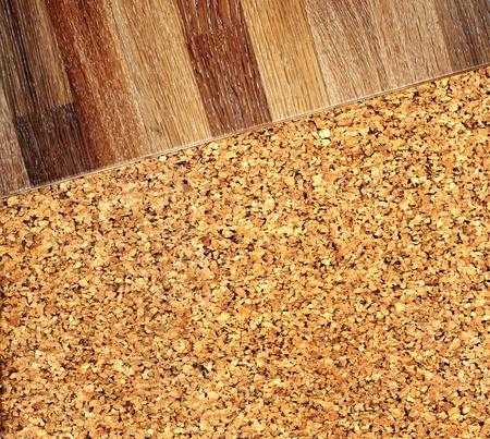 corcho: Parquet de roble nuevo corcho textura