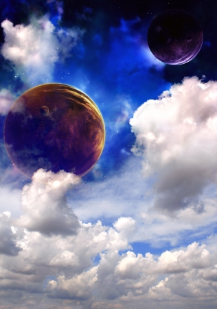 Space sky in alien planet Stock Photo - 13836768