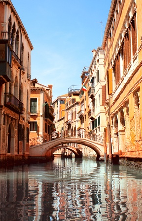 italian culture: Typical Venice street  Summer day