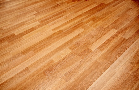 New oak parquet of brown color photo