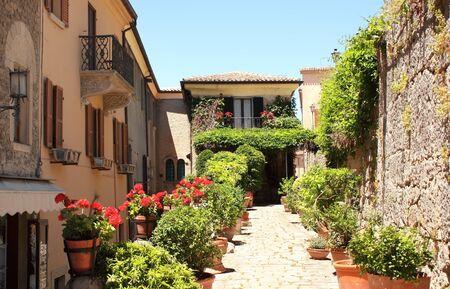 san marino: Typical San Marino street  Summer day Stock Photo