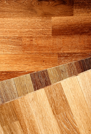New oak parquet of different colors photo