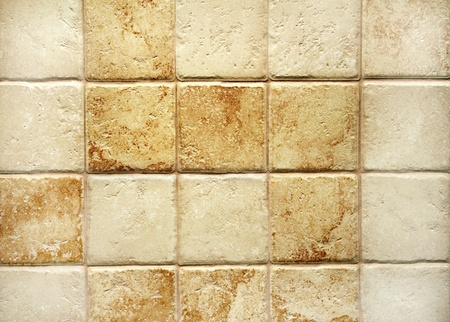 Texture of tiles brown color photo
