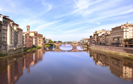 arno: River Arno, Florence, Italy  Stock Photo