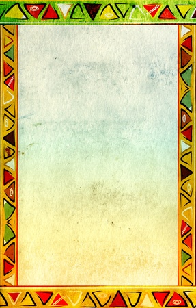 african culture: Grunge background with African traditional patterns