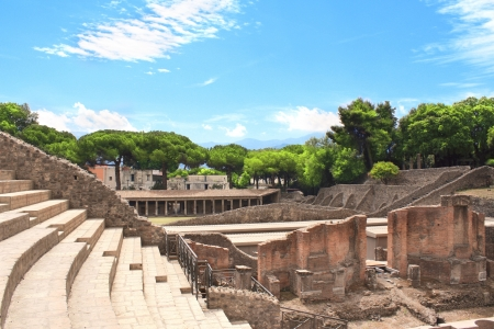 Ruins of Pompeii  Ancient amphitheater photo