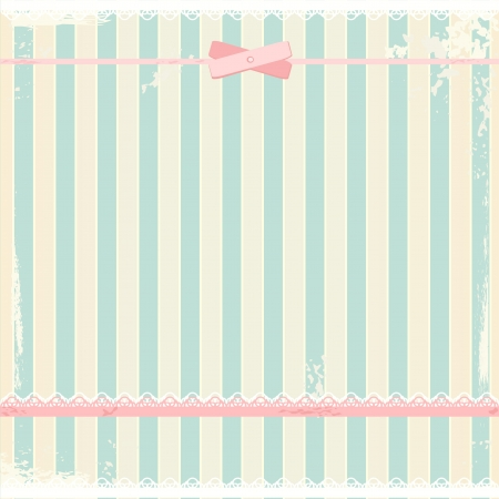 striped: background in shabby chic style  Illustration