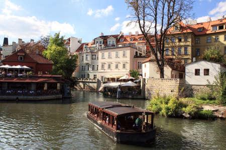 citytrip: River Vltava, Prague, Czech republic.