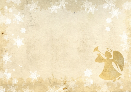 Christmas grunge background with angel Stock Photo - 16240910