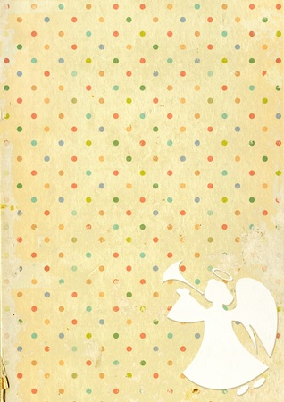 Christmas grunge background with angel Stock Photo - 16240908