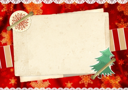Christmas grunge background in shabby chic style Stock Photo - 16240896