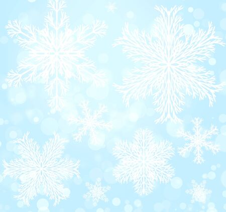 Abstract christmas background with snowflake� Stock Photo - 16240879