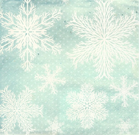 Christmas grunge background with snowflakes and paper texture Stock Photo - 16240897