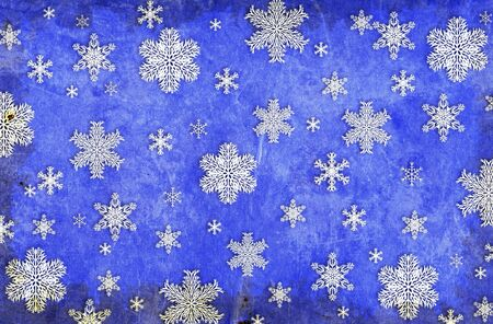 Christmas grunge background with snowflakes Stock Photo - 16240948