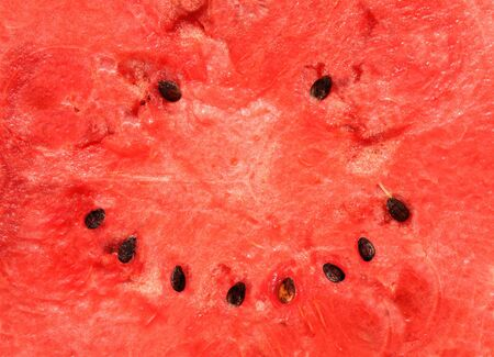 Smiling watermelon. Red texture of sweet watermelon Stock Photo - 16240911