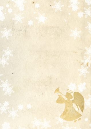 Christmas grunge background with angel Stock Photo - 16332040
