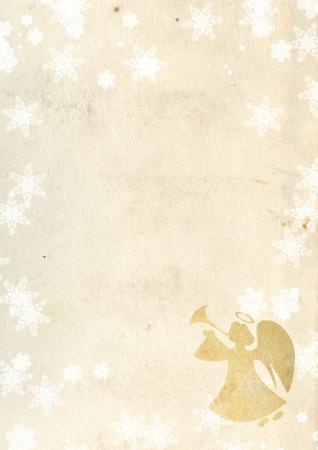 Christmas grunge background with angel Stock Photo - 16332040
