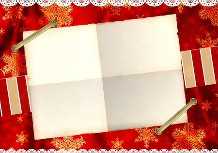 Christmas grunge background in shabby chic style Stock Photo - 16332036