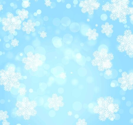 Abstract christmas background of blue color with boke Stock Photo - 16332035