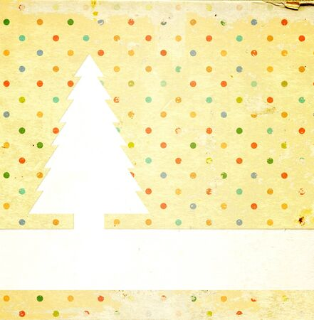 Christmas grunge background with dots pattern and paper texture Stock Photo - 16332037