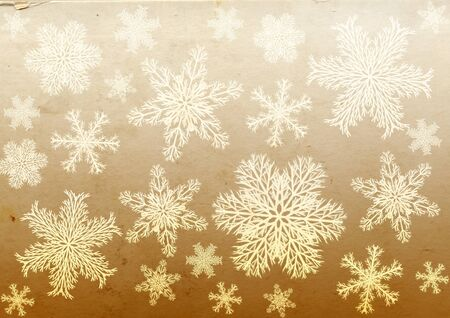 Christmas grunge background with snowflakes and paper texture Stock Photo - 16332044