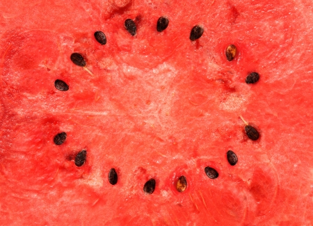 Watermelon frame. Red texture of sweet watermelon Stock Photo - 16332046