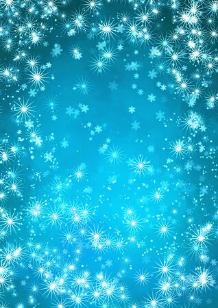 Christmas background with stars and snowflakes Stock Photo - 16455561