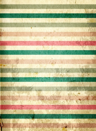 Grunge background with striped pattern and paper texture Stock Photo - 16550244