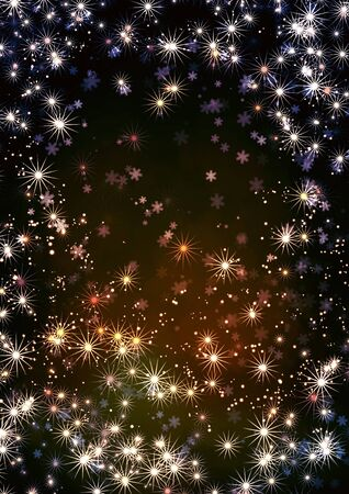 Christmas background with stars and snowflakes Stock Photo - 16550240
