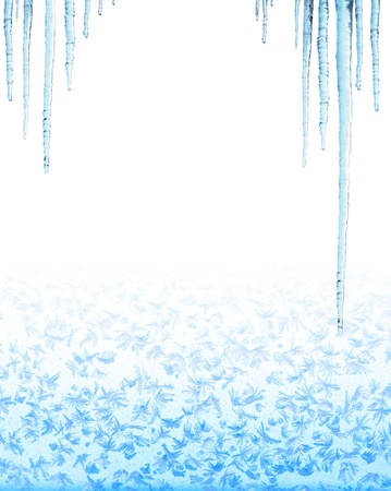 Icicles. Isolated over white Stock Photo - 16550238