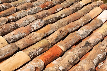 Texture of the old clay tiles Stock Photo - 16550248