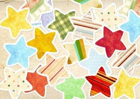 Decorative grunge background with paper stars Stock Photo - 16720424