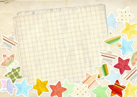 Decorative grunge background with paper stars Stock Photo - 16720419