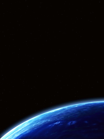 Space scene with Earth Stock Photo - 16720403