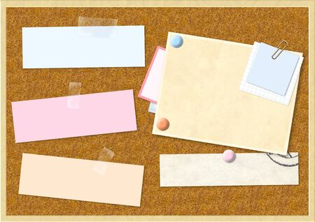 Sheet of paper on cork board Stock Photo - 16720426