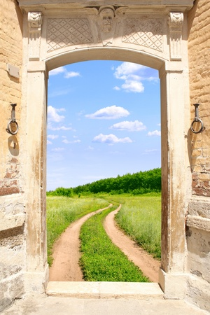 welcome door: Conceptual image - a way to freedom