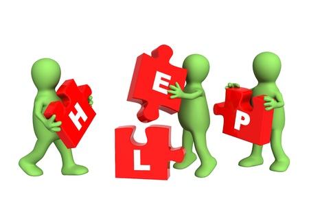 personas ayudando: Imagen conceptual - éxito del trabajo en equipo