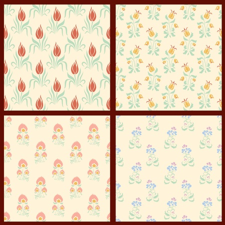 Collection of vector floral backgrounds Stock Vector - 18385351