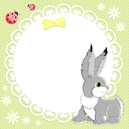 stuffed animals: Vector background with cute bunny