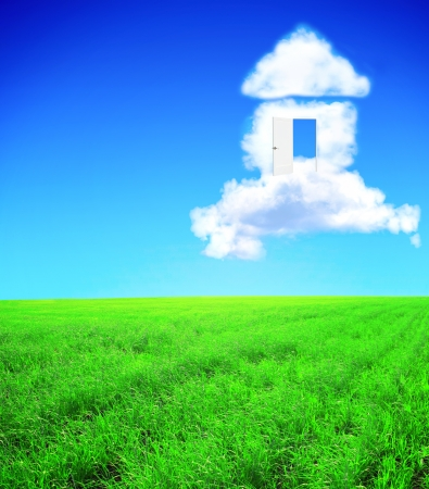 cloud formation: Conceptual image - dream of own house