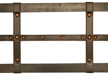 Leather belt. Isolated over white