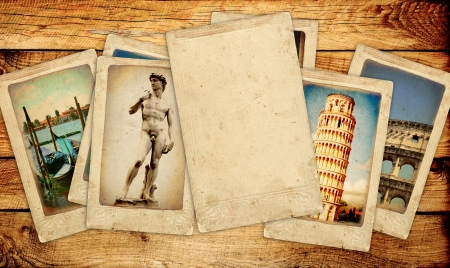 Memories of Italy. Collection of vintage cards photo
