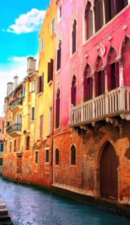 italian culture: Venice street, Italy. Summer day Stock Photo