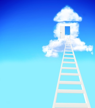 property ladder: Conceptual image - dream of own house