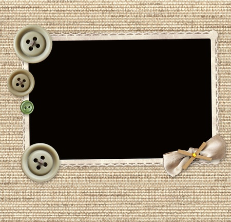 Background with old photo for scrapbooking
