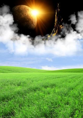 Day and night. Portal to fantasy world Stock Photo - 22001591